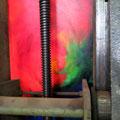 Rot hinter Spindel, Gemälde; © Bild und Foto Peter Diziol