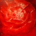 Rotes Kunstwerk des Lichts, Industriegeschichte bei CUBUS Ausstellung, © Peter Diziol
