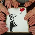 """unglaubliche Blindenführung - Bansky """"Mädchen mit Ballon"""" im Museum Frieder Burda zum Anfassen"""