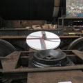 Drehscheibe auf Eisenbahnwagen, Industriegeschichte bei CUBUS Ausstellung, © Peter Diziol