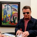 unglaubliche Blindenführung: H. Kühn vor Blauem Pferd von F. Marc; 2009