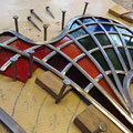 Herstellung des Glas-Kunstwerks