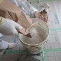 壁仕上げ材 漆喰塗料調合