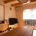 テレビ台一体型収納 矢田丘陵の家 伏見建築事務所製