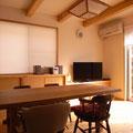 たも幅はぎ板 矢田丘陵の家 伏見建築事務所製