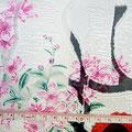 GP-T17-19 フロッキーフクレオーガンジー/ピンク・赤花柄