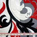 GP-T17-14 白黒赤柄刺繍チュール