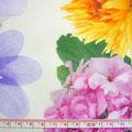 GP-T17-27 アイボリーに多色花柄 薄手ポプリン