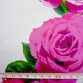 GP-T17-39 白地に濃ピンク花柄シャンタン