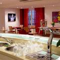 Restaurant Les Oliviers - Dessus du plan du Bar cintré, en Corian