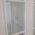 Doppelflügeltür mit Facettenglas in Lack weiß