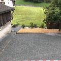 Oberkante neue Bruchsteinmauer, abschnitzeln