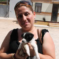 Cachorro - abandonado enfrente de una clinca vet., adoptado en Gandia