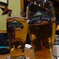 Leckeres Abschluss-Bier nach der Schlittenhunde-Tour in Ontario.