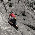 Rock climbing in Kanada.