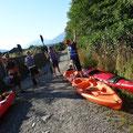 Kayak in Kanada: Alle bereit für die Tour auf dem Squamish River.