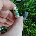 Geocaching: Eintrag ins Mini-Logbuch? Lieber ohne eisigen Wind.