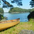 Paddeln in Kanada: Manche Campingplätze sind tatsächlich nur über das Wasser erreichbar.