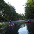 Kayak in Kanada: Tim und Maria übernehmen die Spitze.