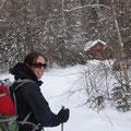 Auf Skiern im Nationalpark: Die Hütte kommt in Sicht.
