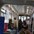 Nettes Interieur in der neuen Bahn.