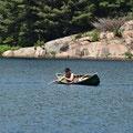 Paddeln in Kanada: Manche Leute machen im Kanu echt eine gute Figur.