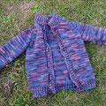 Kinderjacke aus Wolle vom Coburger Fuchsschaf, pflanzengefärbt