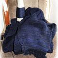 Teile eines Pullovers, Synthetik, melierter Farbverlauf