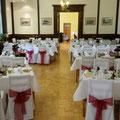 Festsaal zur Hochzeit im Schloss Wahlsdorf