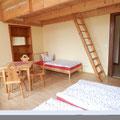 Zimmer mit Schlafgalerie im Schloss Wahlsdorf