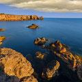 Die Steilküste Mangiabarche (Langzeitbelichtung)