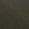 Baie du Mont : ripplemarks et soleil couchant