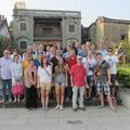 Die Austauschschüler und ihre Begleiter in Nanzhe.