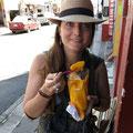 Mango im Sack für 1 Fr. frisch geschnitten