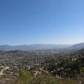 Sicht vom Monte Alban auf Oaxaca
