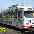 Abgestellt! DÜWAG GT6 129,  ehem. VBL vor dem Depot in Bad Dürkheim.