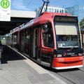 Siemens GT8N 1111 beim Hauptbahnhof (20.05.2007).