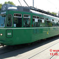 Er sieht aus wie neu. Ein Motorwagen Be 4/4 Nr. 465 mit Beiwagen am Wettsteinplatz.