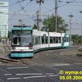 DUEWAG GTM6, 609 RNV (vorm MVV) am vor dem MVV-Hochhaus