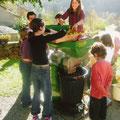 Ariège-Pyrénées, Goulier - animation pressoir à pommes