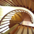 Ariège-Pyrénées, Goulier, gîte rural la Grange -  escalier en colimaçon