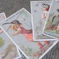 こちらはなんのかしら?とにかく不思議なカードです。鳥頭の子供たち。