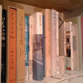 本棚には私の好きなジョセフコーネルや長田弘さんなど。匡画廊や私の本棚とつながっているかのよう!!