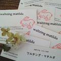 手拭じゃないよ!画廊主さんにアドレスのきちんとしたショップカードを作ってもらいました。