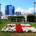 Генуя Цветники в форме генуэзского флага - экскурсии по Генуе