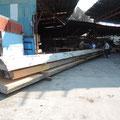 3月27日資材置き場視察(実際に使う大きな木材)