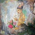 Auch großes Bild aus Sigiriya als Beispiel für Aufträge. 140x200 cm etwa Eur 500