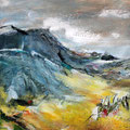 Albvorland 1 - 37 cm x 37 cm - Acryl auf Bütten - 2016 - 280,- €