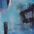 """in the blue"" - 80cm x 80cm - mixed media - 800€"