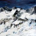 Landschaft Alpen 201541 - Acryl auf Leinwand - 70 cm x 70 cm - 800,- €